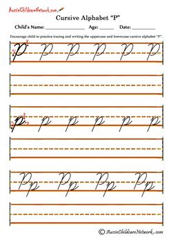 Printable Tracing Cursive Alphabet Letters Pp Ecriture Cursive