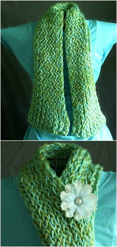 20 einfache DIY Schals, die Sie stilvoll und warm in diesem Winter ...