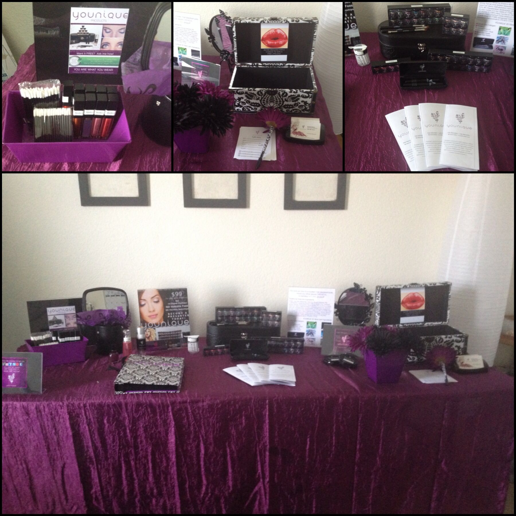 vendor booth set up. Younique presenter Pinterest