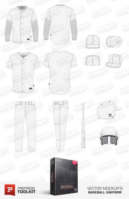 Vector baseball uniform mockup template collection | Vector Apparel ...