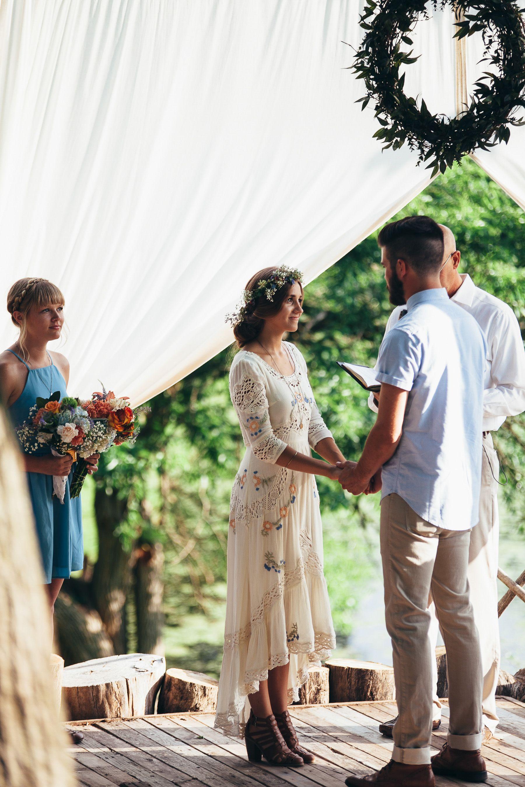 Sarah and nate stracke midwest diy boho wedding wedding