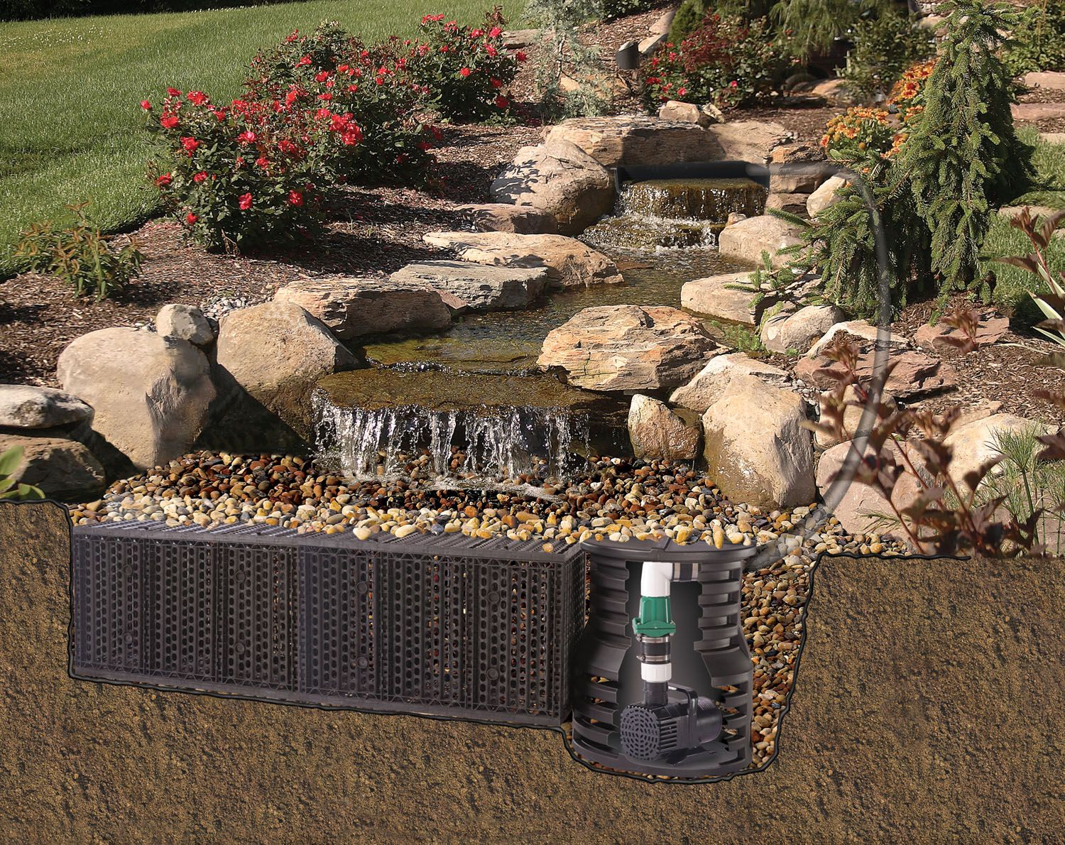 fishpond with waterfall pond free waterfall diagram in the rh pinterest com