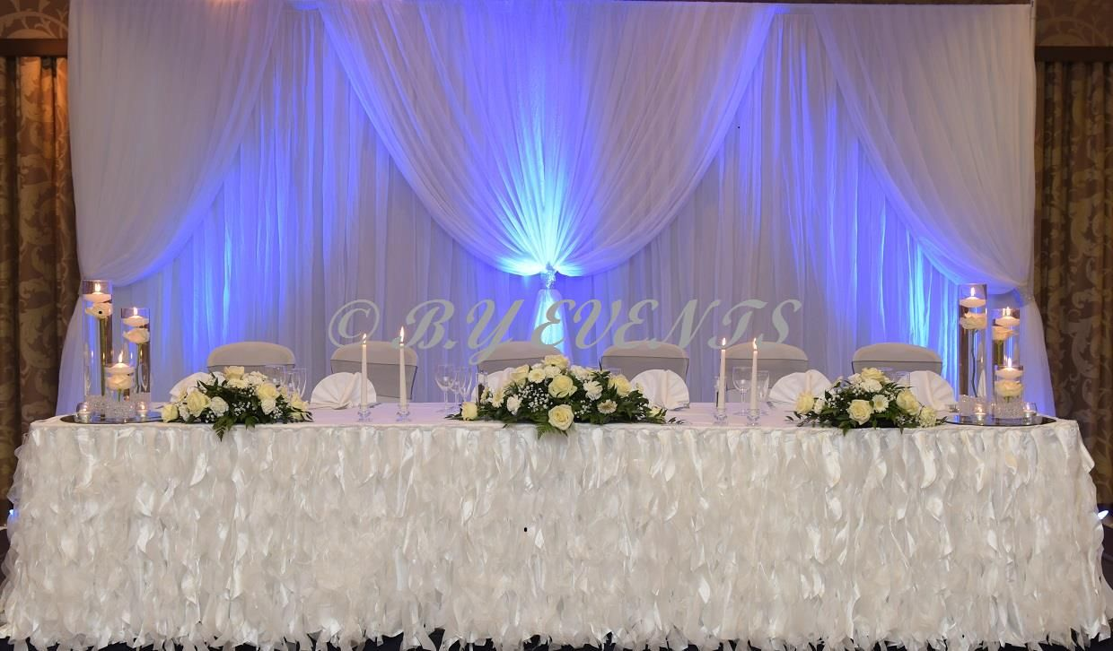 Recreate this backdrop with our white drapes organza drops led recreate this backdrop with our white drapes organza drops led uplights and silver sashs junglespirit Image collections