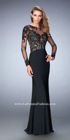 Full Sleeve Long Prom Dresses