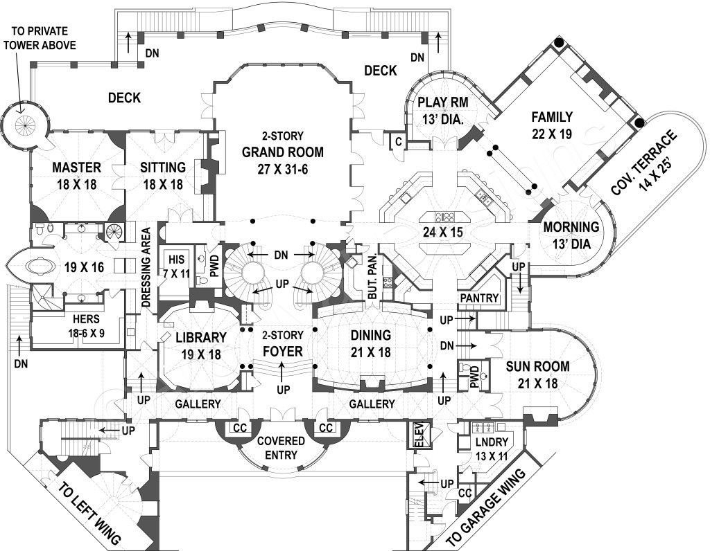 20000 Square Feet House Plans In 2020 Castle Floor Plan