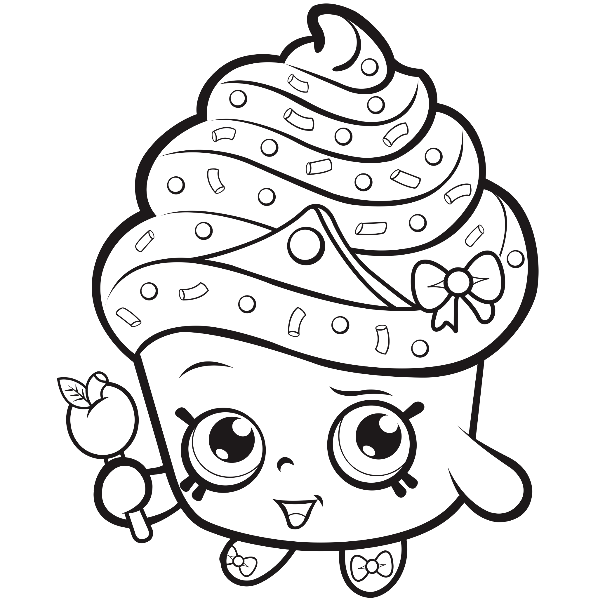 Shopkins Coloring Pages Shopkin coloring pages Cupcake coloring pages Princess coloring pages