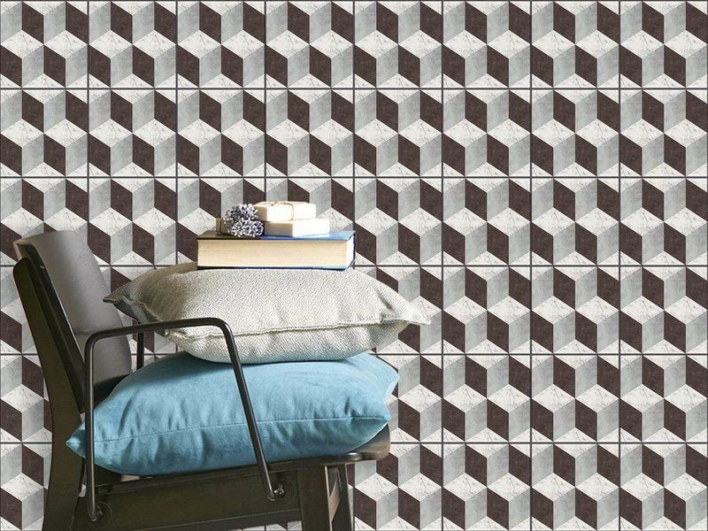 hochwertige fliesenaufkleber set mit design 3d marmor cubes marmor badfliesen. Black Bedroom Furniture Sets. Home Design Ideas