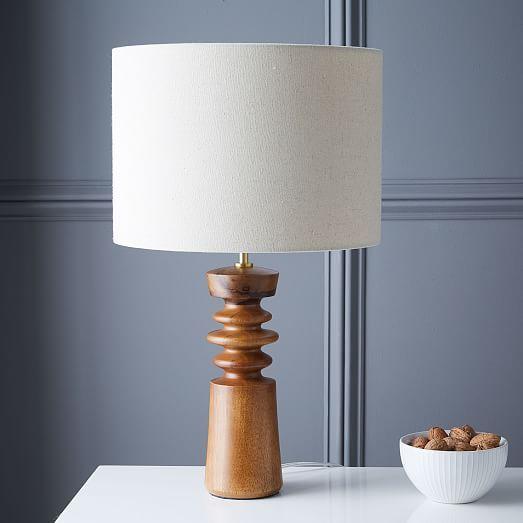On Desk In Sunroom Turned Wood Table Lamp Medium Table Lamp Wood Wooden Table Lamps Modern Table Lamp