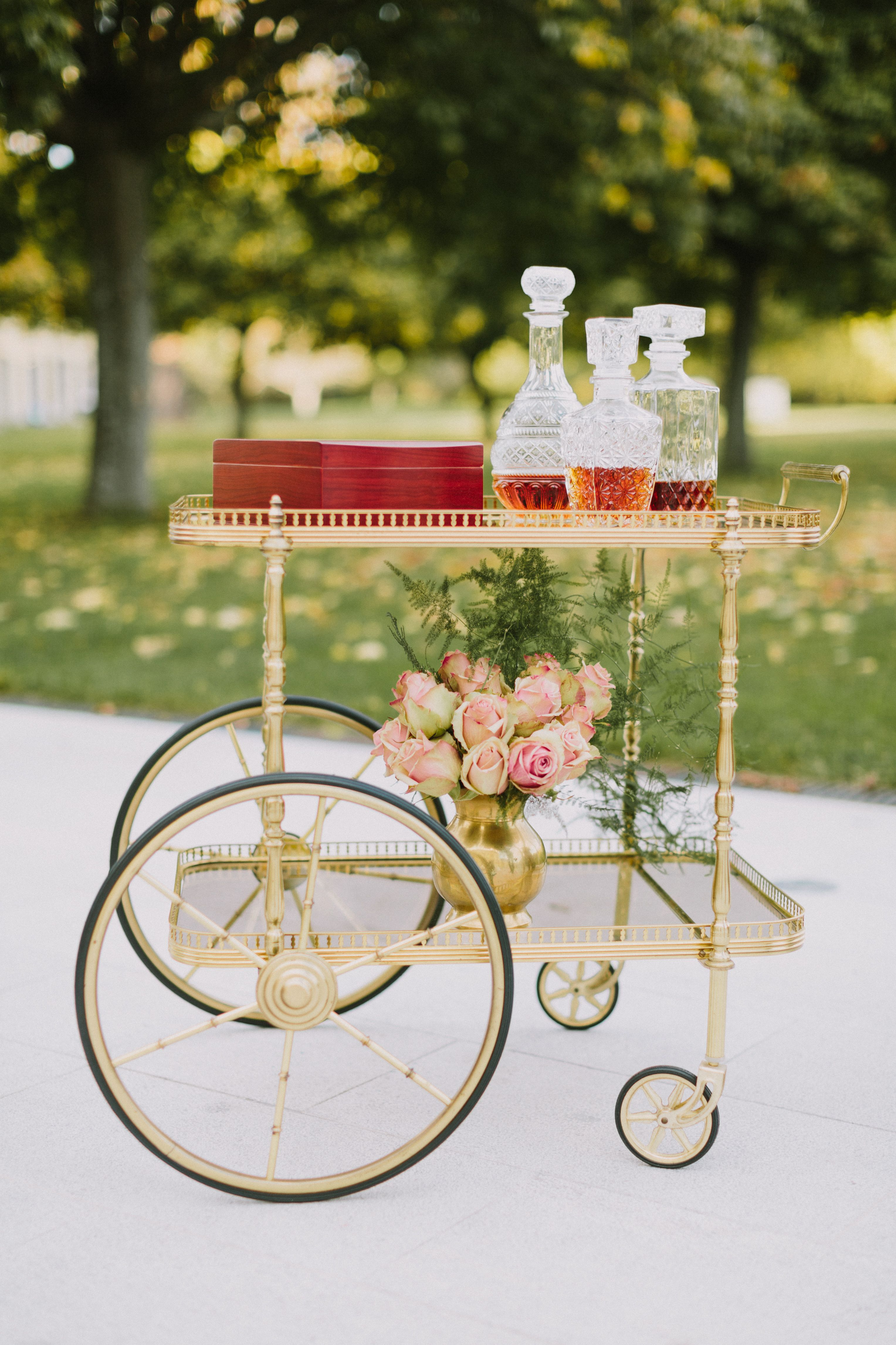 20 Bar Carts That'll Transform Your Wedding's Cocktail