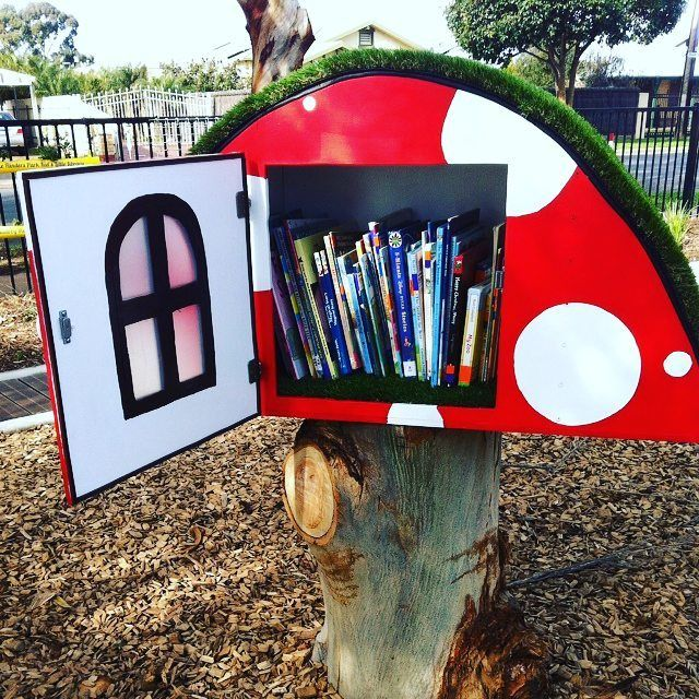 This magical mushroom-shaped #LittleFreeLibrary is in ...