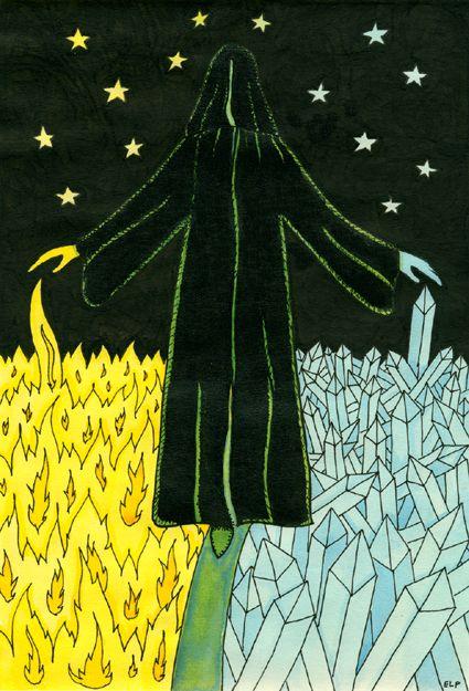 XIV. Temperance - Tarot of the Crone by Ellen Lorenzi-Prince -  - If you love tarot, visit me at www.WhiteRabbitTarot.com
