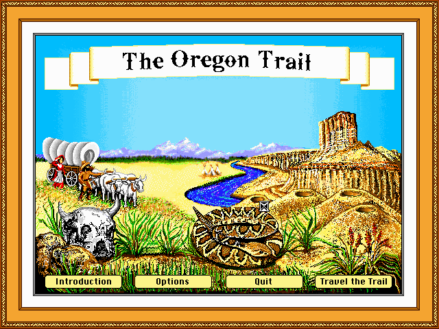 Oregon Trail Old DOS Games Download for Free or play