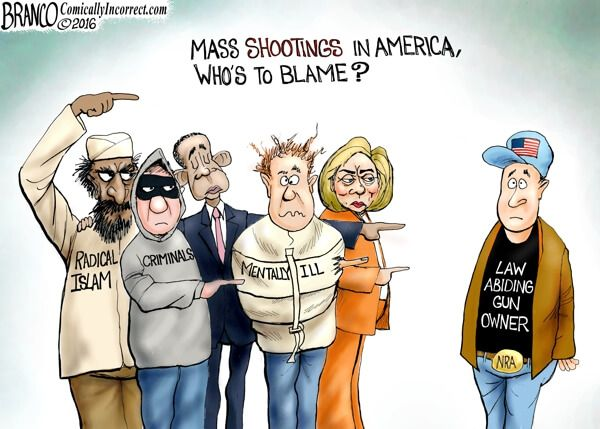 Image result for conservative cartoon mass shooting