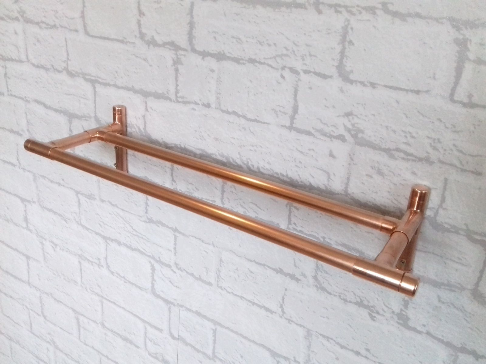 ROSE GOLD COPPER TOILET ROLL HOLDER /& DOUBLE TOWEL RAIL 6 SIZES AVAILABLE