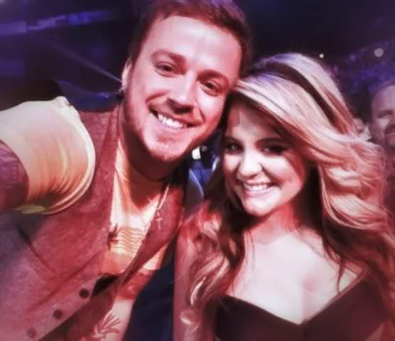 Stephen Barker Liles of Love and Theft poses  with Lauren Alaina in 2011