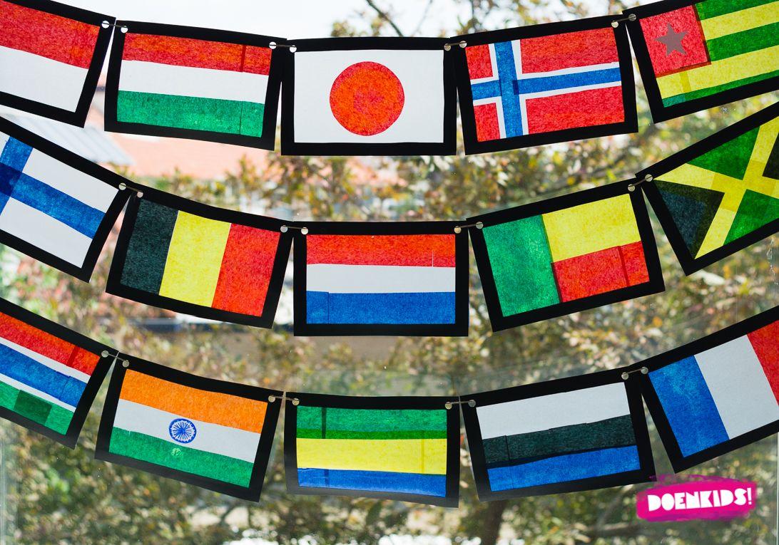 Olympische Vlaggen Knutselen Doenkids Zomerknutsels Wereldbol Knutselen School Kunstprojecten