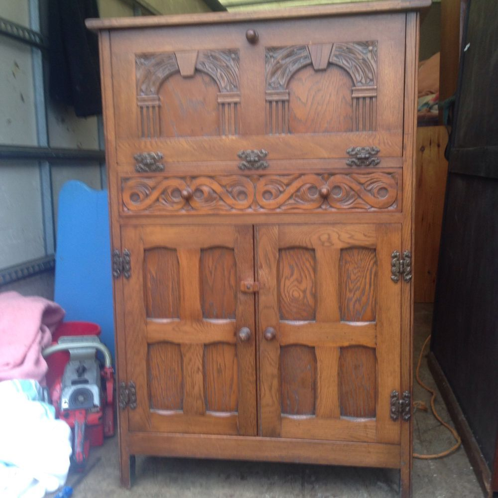 Oak Cocktail cabinet / Drinks in Antiques, Antique Furniture ...