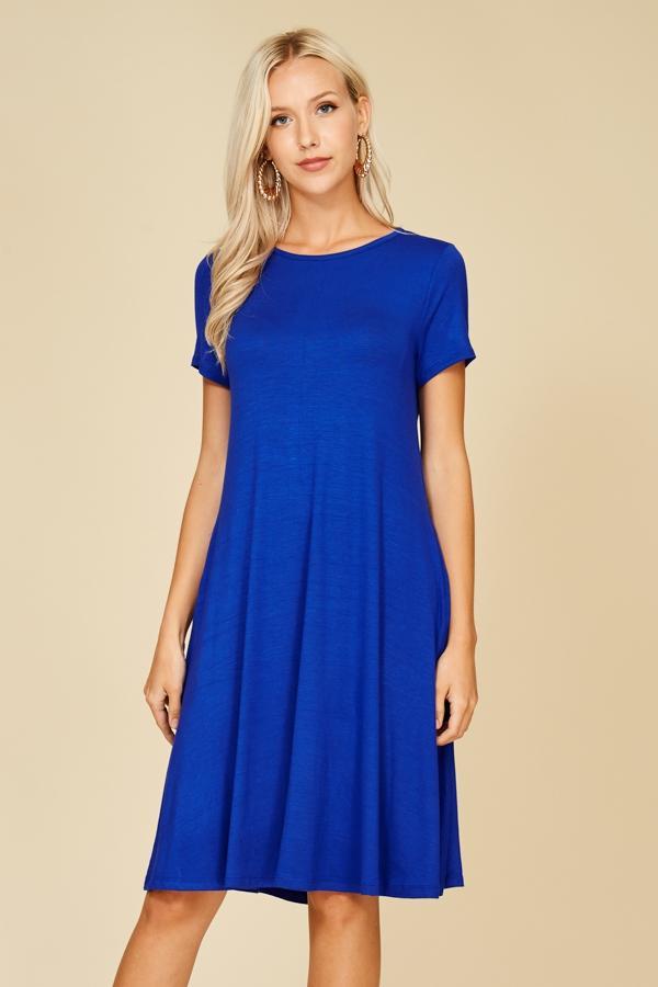 Royal Blue Knit Dress