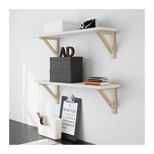 ekby sten ekby valter wall shelf white birch