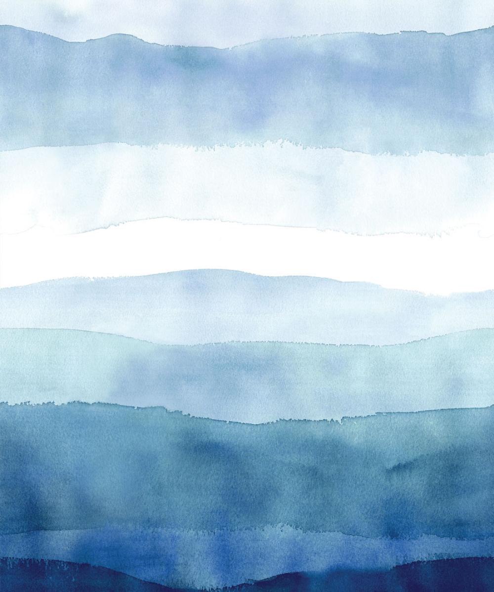 Exclusive Designer Wallpapers Milton King Blue Watercolor Wallpaper Watercolor Wallpaper Wallpaper