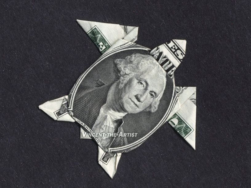 Sea Turtle Money Origami Dollar Bill Animal Reptile Cash Sculptors