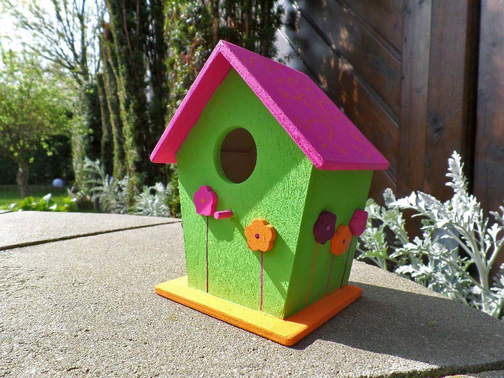 Deko-Vogelhaus Blumen (von Die kleine Holzhütte)