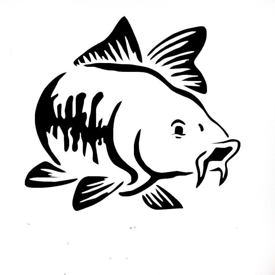 Carp fishing car vinyl decal art sticker impulse for Fishing car stickers