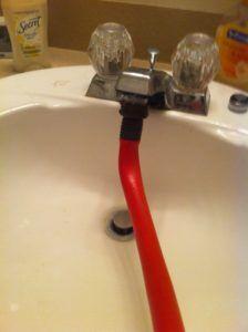 rubber hose faucet adapter kitchen