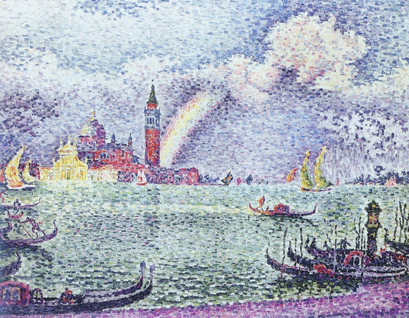 Venice The Rainbow 1905 Art Painting Pointillism
