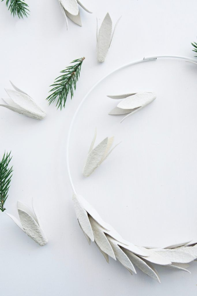 Photo of [Kreativ-Adventskalender:Türchen #6] DIY Christmas wreath made of egg carton – Sinnenrausch – The creative DIY blog for the homely and do-it-yourself