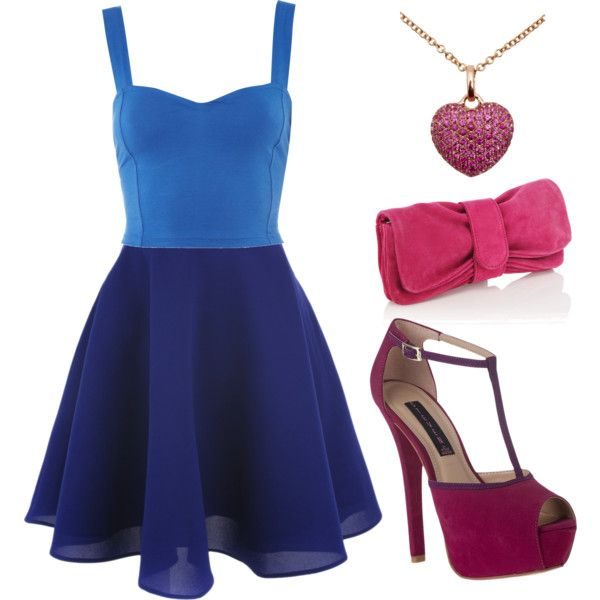 blue, created by julierab on Polyvore
