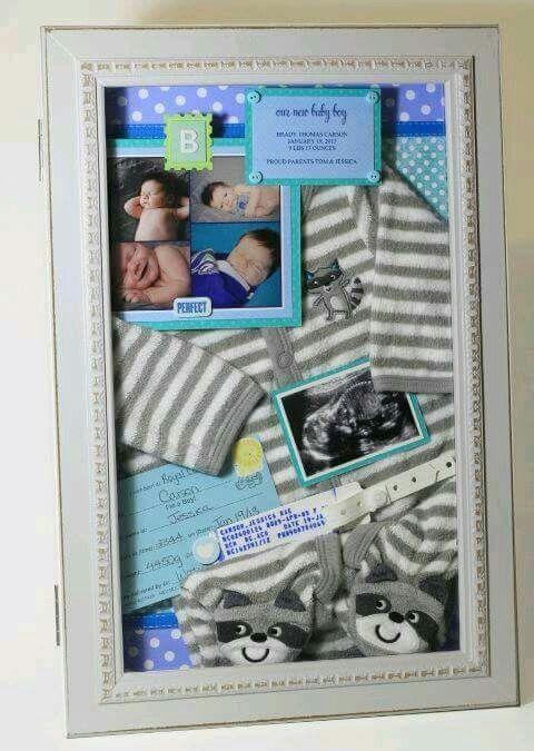 Idea para organizar el primer cuadro de tu bebé   Familias ...