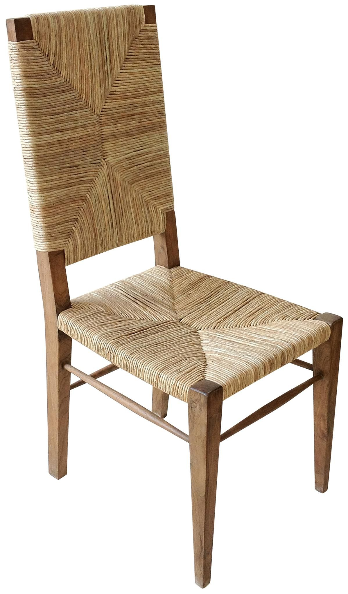 Beau Stewart Teak And Seagrass Dining Chair With Woven Seat And Back Also  Available In Smaller Size