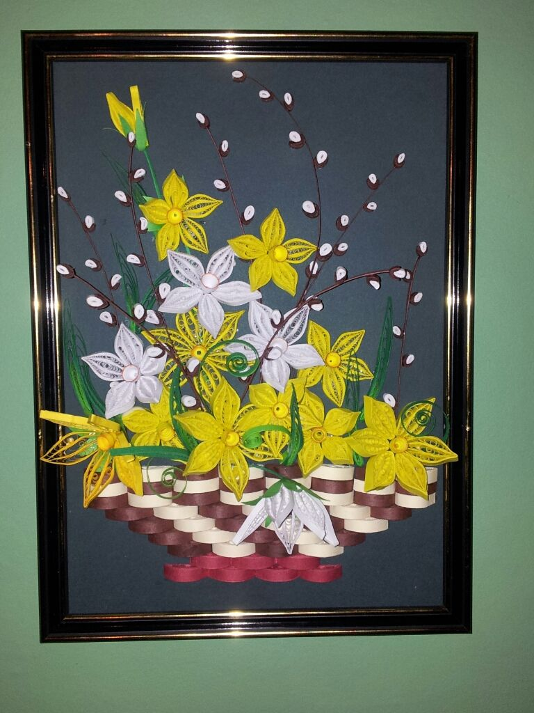 kwiaty wiosenne   quiling   Pinterest