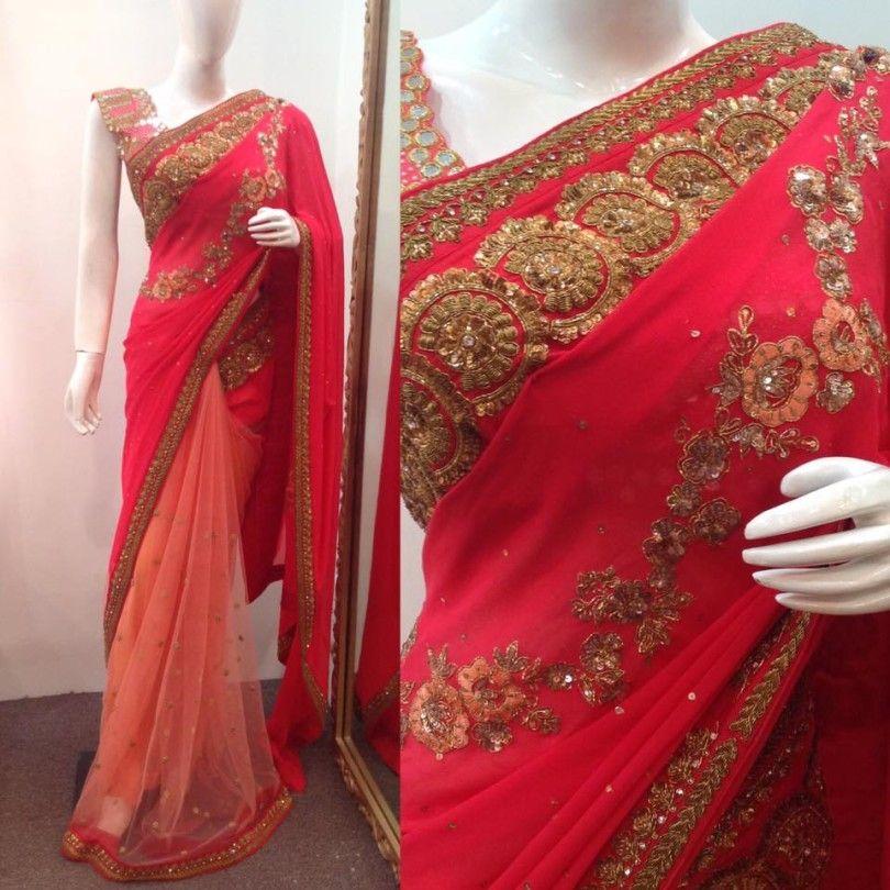 pastel color saree