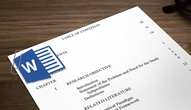 10 Best Table Of Contents Templates For Microsoft Word Microsoft