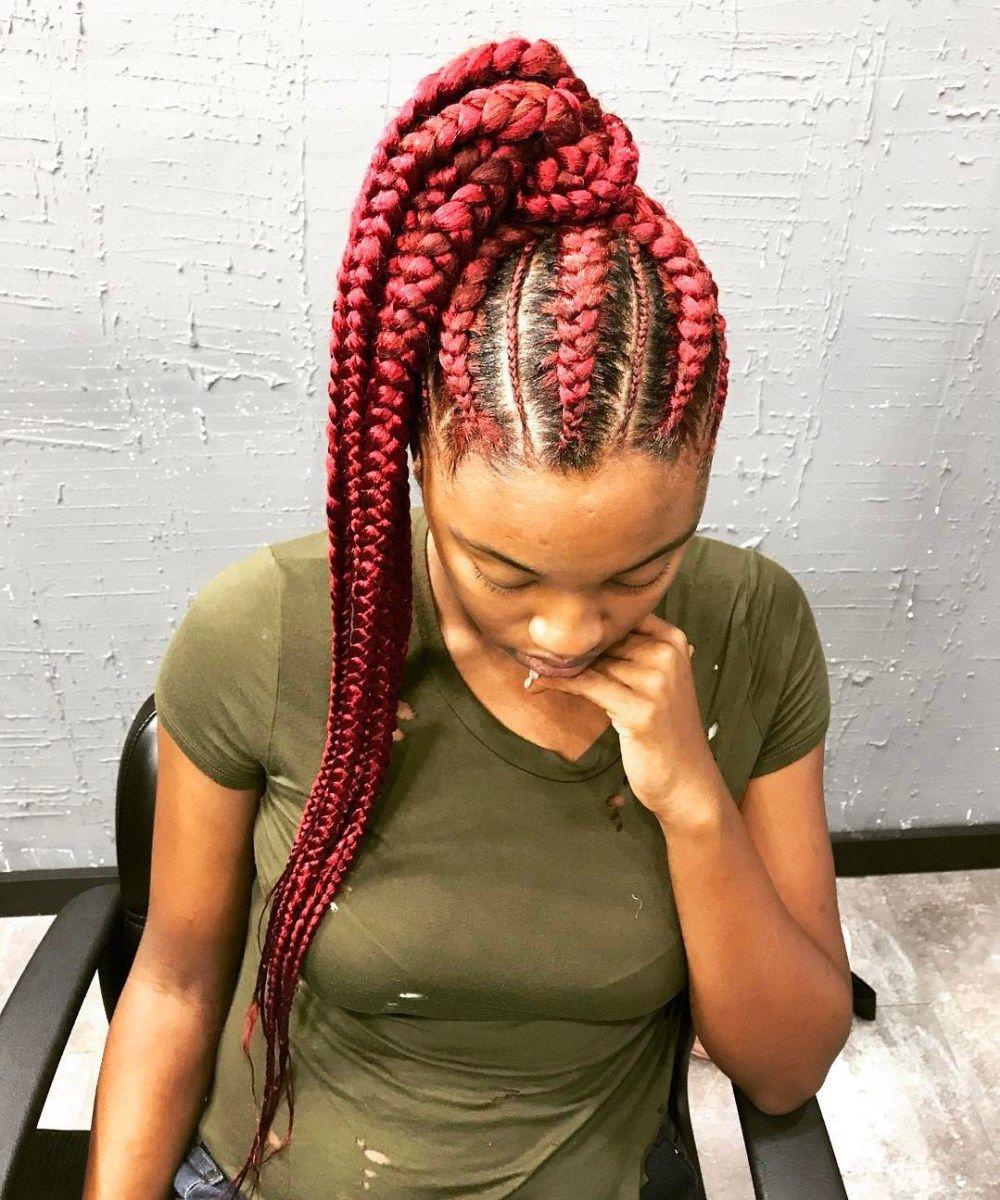 inspiring examples of goddess braids in box braids