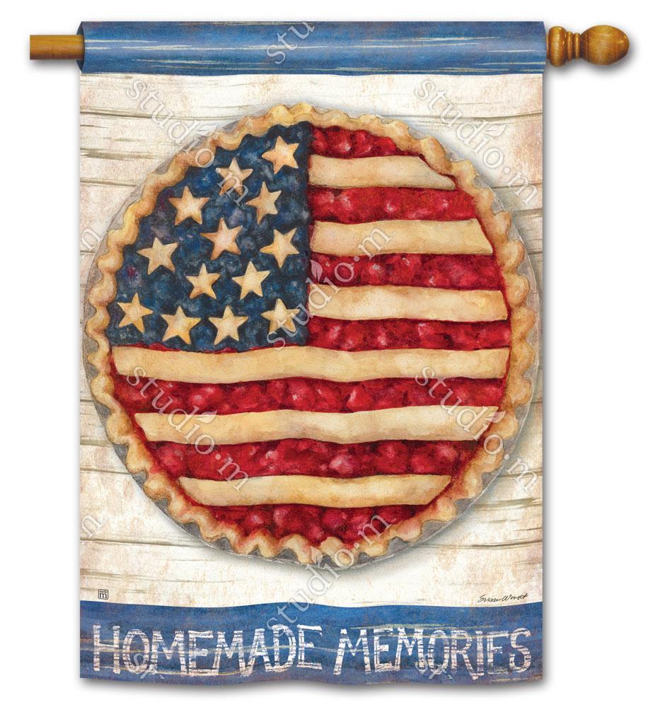 Homemade Memories Standard Flag Flag Decor House Flags Patriotic