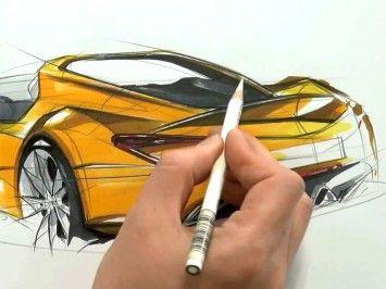 Car sketching video by Sangwon Seok