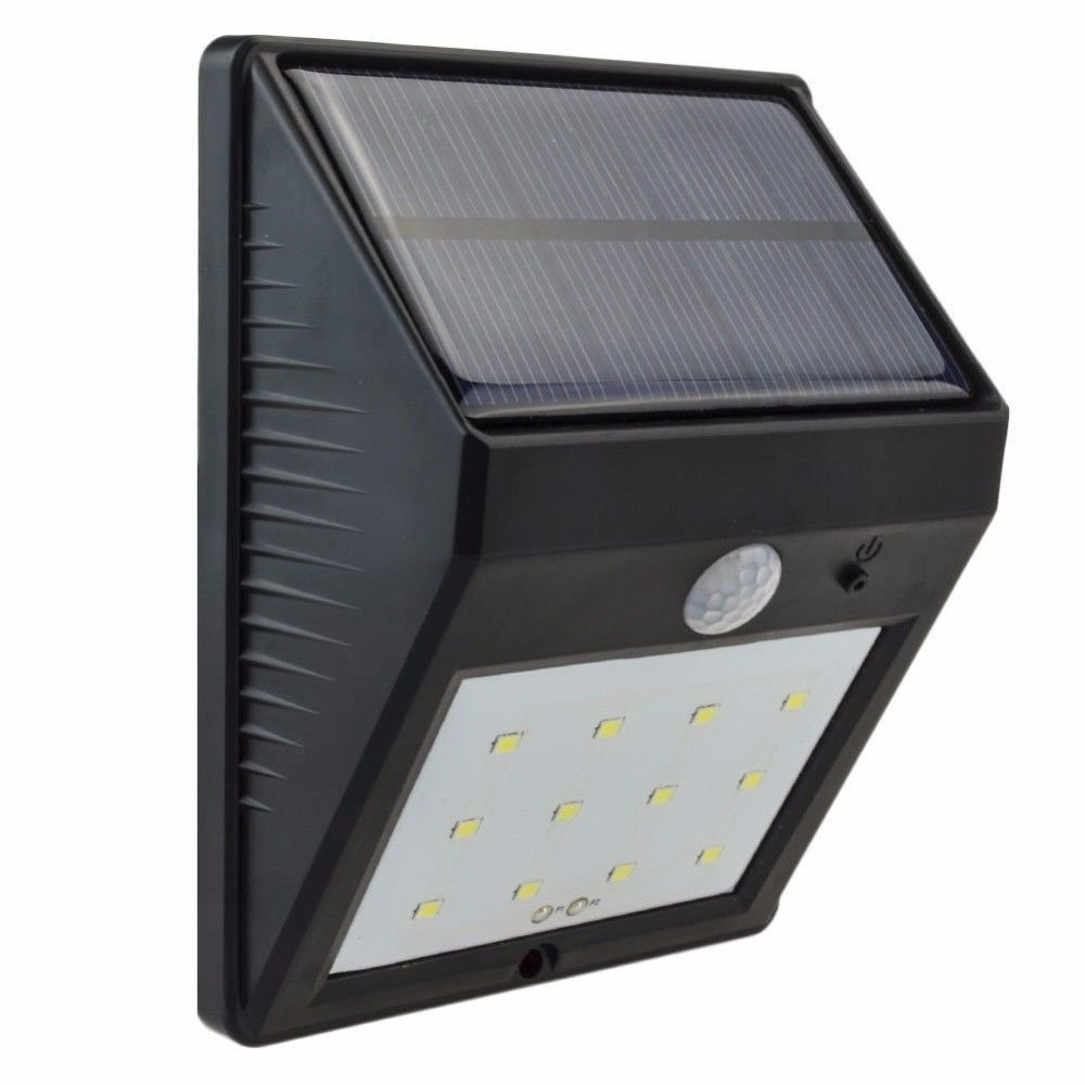 12 Led Solar Powered Pir Motion Sensor Light Outdoor Garden Security Wall Light Yushiled Motion Sensor Lights Outdoor Motion Sensor Lights Solar Power