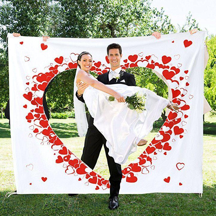 Hochzeitslaken zum Ausschneiden - Hochzeitsherz für das
