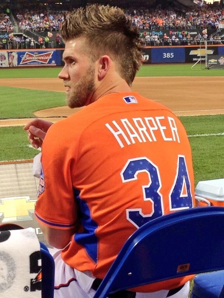 bryce harper: hair and beard. hottie! homerun derby