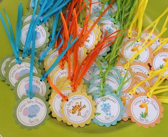 Fisher Price Safari Baby Shower Favor Tags (set Of 12) $8.50