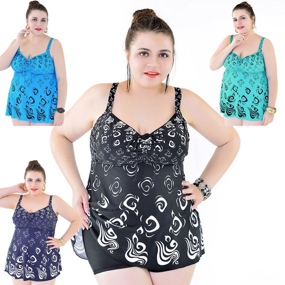 7a55a941b9de3 Women Two Piece Swimdress Swimwear Bathing Suit AU Size 18 20 22 24 26 28   8615