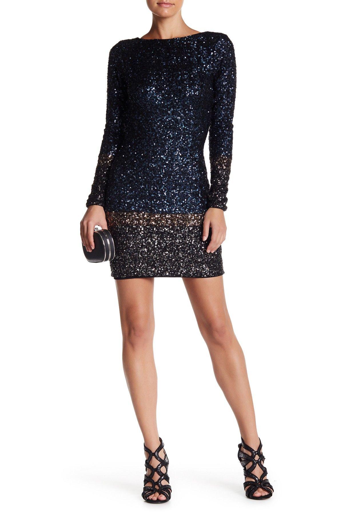 Embellished long sleeve back zip dress pinterest zip