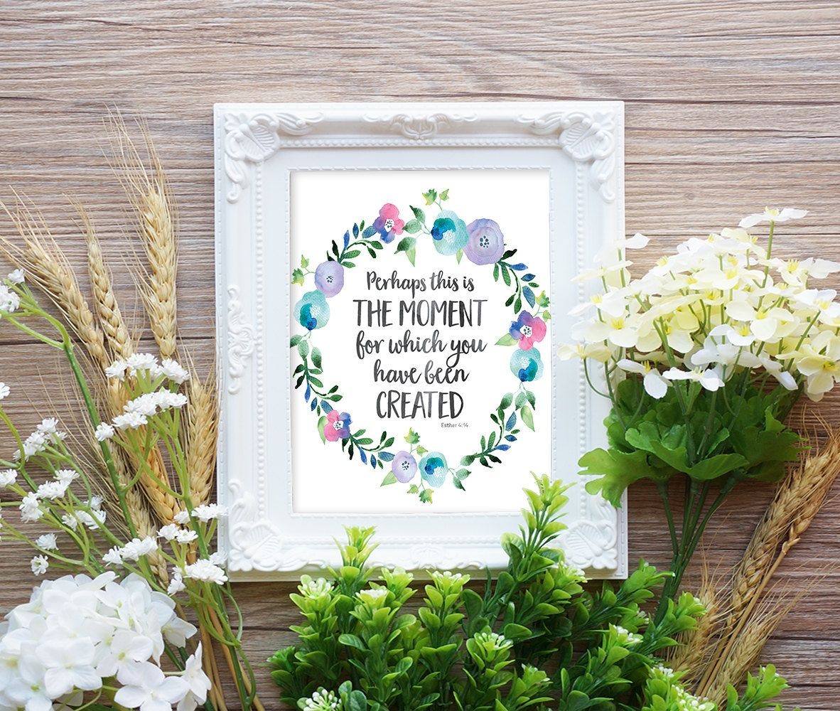 Scripture quote print bible verse print inspirational quote art