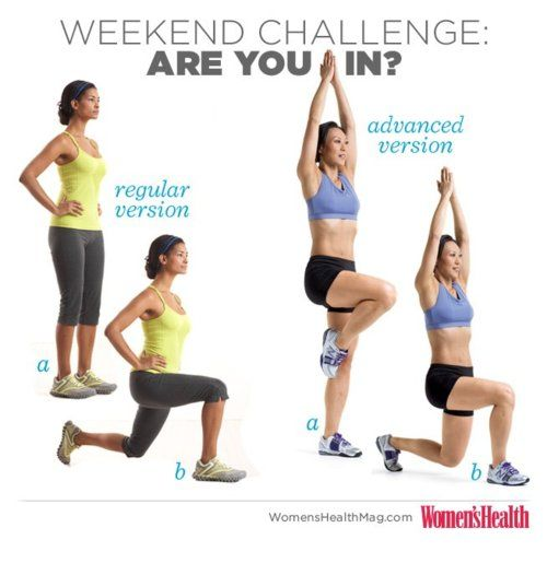 Weekend Challenge Lower Body Burn Do 3 Sets Of 10 Lunges Regular Or Advanced On Each Leg Before Every Meal Lunges Targ Lower Body Workout Workout Get Fit