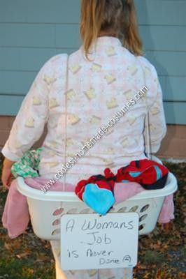 coolest homemade human laundry basket adult halloween costume idea - Funny Home Made Halloween Costumes