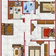 مخطط شقة 150 متر Dream House Plans Holiday Decor House Plans