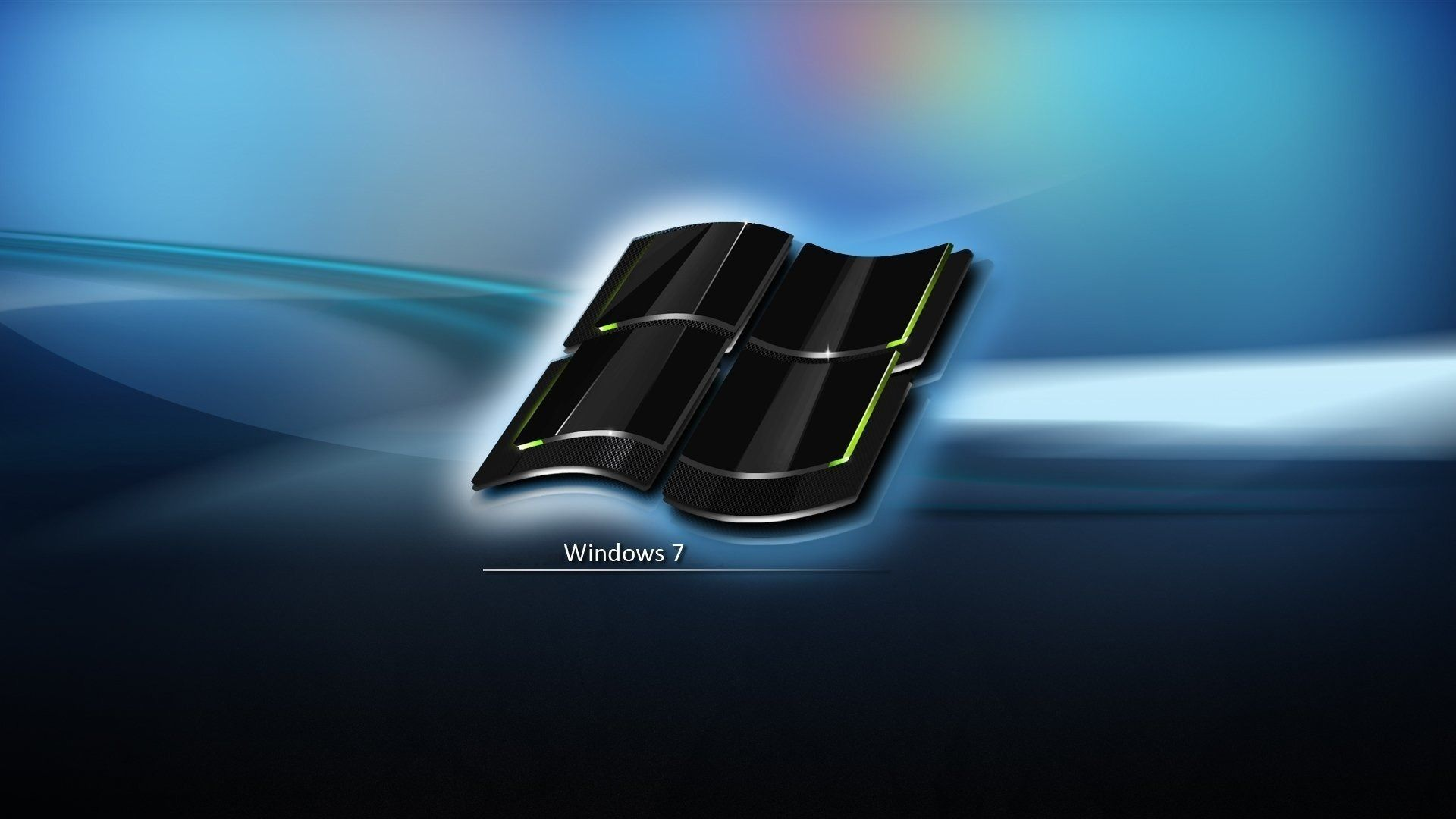 Windows 7 Crystal Black Logo Hd Wallpaper Computer Wallpaper Hd Dual Screen Wallpaper Dark Wallpaper